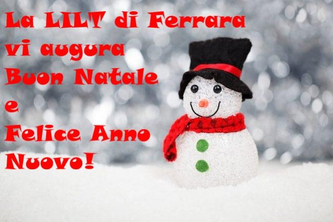 Foto E Auguri Di Buon Natale.Auguri Di Buon Natale E Felice Anno Nuovo Lilt Ferrara